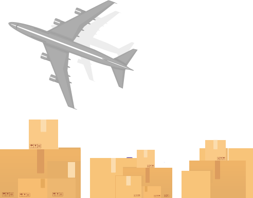 planes and boxes
