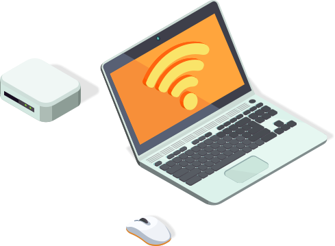 laptop mouse and wifi modem